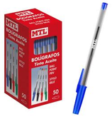 50 stylos classique bleu Cod. 041139