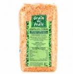 12 Lentilles corail paquet 1kg Grain de Frais