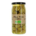 12 Olives vertes entières BIO pot 37cl