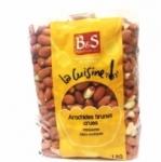 9 Arachides décortiquées brunes crues paquet 1kg B&S