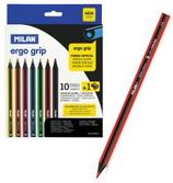 10 crayons de couleur ergonomique-grip triangulaire Cod. 147047