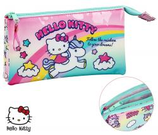 1 Hello Kitty Licorne Fourre-tout triple 22x12 Cod. 231353