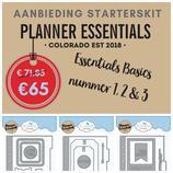 Planner Essentials starter kit 1,2 en 3. Aanbieding Snijmallen - Stansen