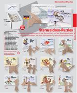 """Zundholzschachtel Puzzle """"Sternzeichen"""""""