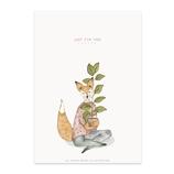 karte / Postkarte  Fuchs - Just For You -