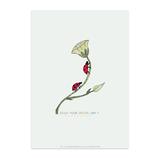 karte / Postkarte Marienkäfer - Enjoy your Special Day -
