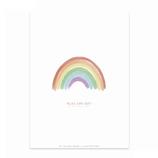 karte / Postkarte  Regenbogen - Alles Wird Gut -
