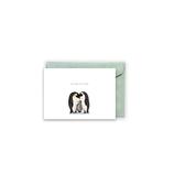 Grußkarte / klappkarte Pinguinen -  Welcome little one -