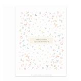 karte / Postkarte Blätter  - Herzlichen Glückwunsch -