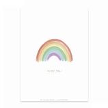 karte / Postkarte  Regenbogen - Du Bist Toll -