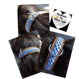 Hundehalsband mit Flechtung, blau (HH 16)