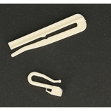 Verstelbare insteek gordijn haak 7 mm