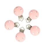 Houten speen clip roze