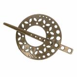 Breiwerk sluiting 8.5cm brons
