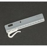 Verstelbare insteek gordijn haak 7.5 mm