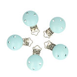 Houten speen clip blauw