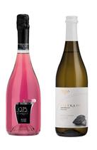 スパークリング ロゼ + 微炭酸白ワイン セット
