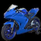 YZF-R3 15-18 レースカウル ブルー