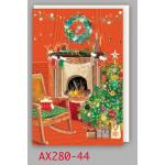チキュウグリーディングス クリスマスカード S280-44 日本製