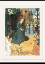 聖母の騎士社 クリスマスカード ヒューホーファン・デル・フース 羊飼いの礼拝