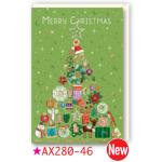 チキュウグリーディングス クリスマスカード S280-46 日本製