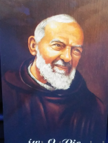 ご絵 10×8.5サイズ 聖ピオ神父 Saint Pio holy card with prayer in Poland