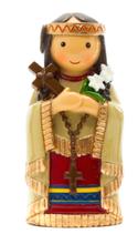 LDW 165452YX Saint Kateri Tekakwitha statue 聖カテリテッカウィスタ