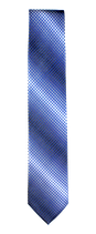XXL Krawatte, 7.5 cm breit, mehrfarbig blau/anthrazit/weiß
