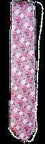 Krawatte, 7.5 cm breit, Blumenmuster, Flieder