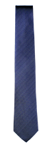 XXL Krawatte, 7.5 cm breit, uninah blau