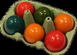 Eier gekocht und gefärbt