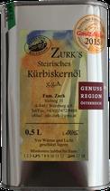 Steirisches Kürbiskernöl g.g.A. Blechdose - Familie Zurk