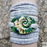 Armband - Oval - Schneckenstruktur