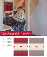 Wohndecke Light Verbier rot oder grau
