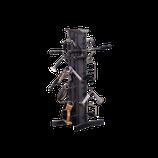 Body Solid Griff- Rack mit Hantelstangenablage