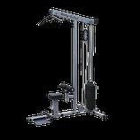 Body Solid Latzug mit 130 Kg Steckgewichtsturm
