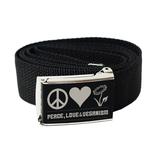 Gürtel Peace Love Veganism