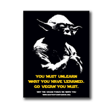 Vegan Yoda - Aufkleber