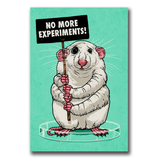 No more experiments! - Sticker