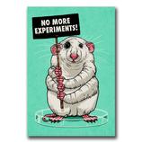 No more experiments! - Sticker