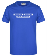 """T-Shirt """"Unser Verein..."""" blau"""