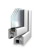 Balkontür Veka 82mm 3-fach-verglast Weiß