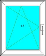 Dreh-Kipp-Links Softline 82MD, Farbe: Weiß