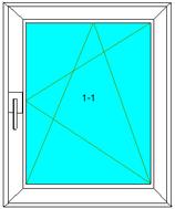 Dreh-Kipp-Rechts Softline 82MD, Farbe: Weiß