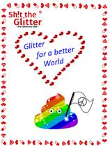 """Magnet - """"Glitter for a better World"""""""