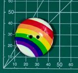 Emaille - Regenbogen auf Kokusnuss
