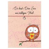 Armbändchen mit Karte - Du hast dein Herz am richtigen Fleck.