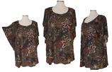 Summerfeeling Shirt New Designs Paisley-Art Pünktchen Schwarz mit mehrfarbigem Muster (SFS-626)