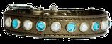 """Halsband """"Bronze, Perlen und Topas"""""""