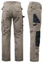5532 Pantalon renforcé beige contrasté noir